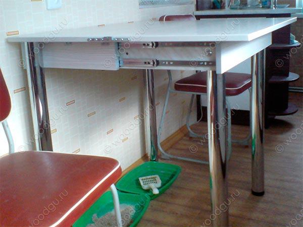Столы-трансформеры для кухни своими руками фото6
