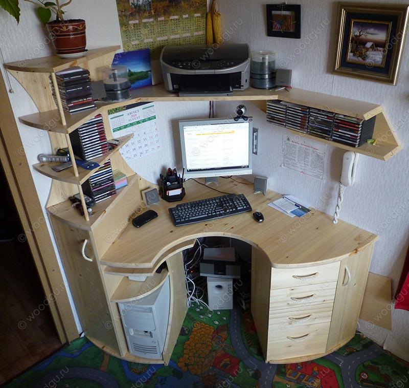 Стол компьютерный угловой.